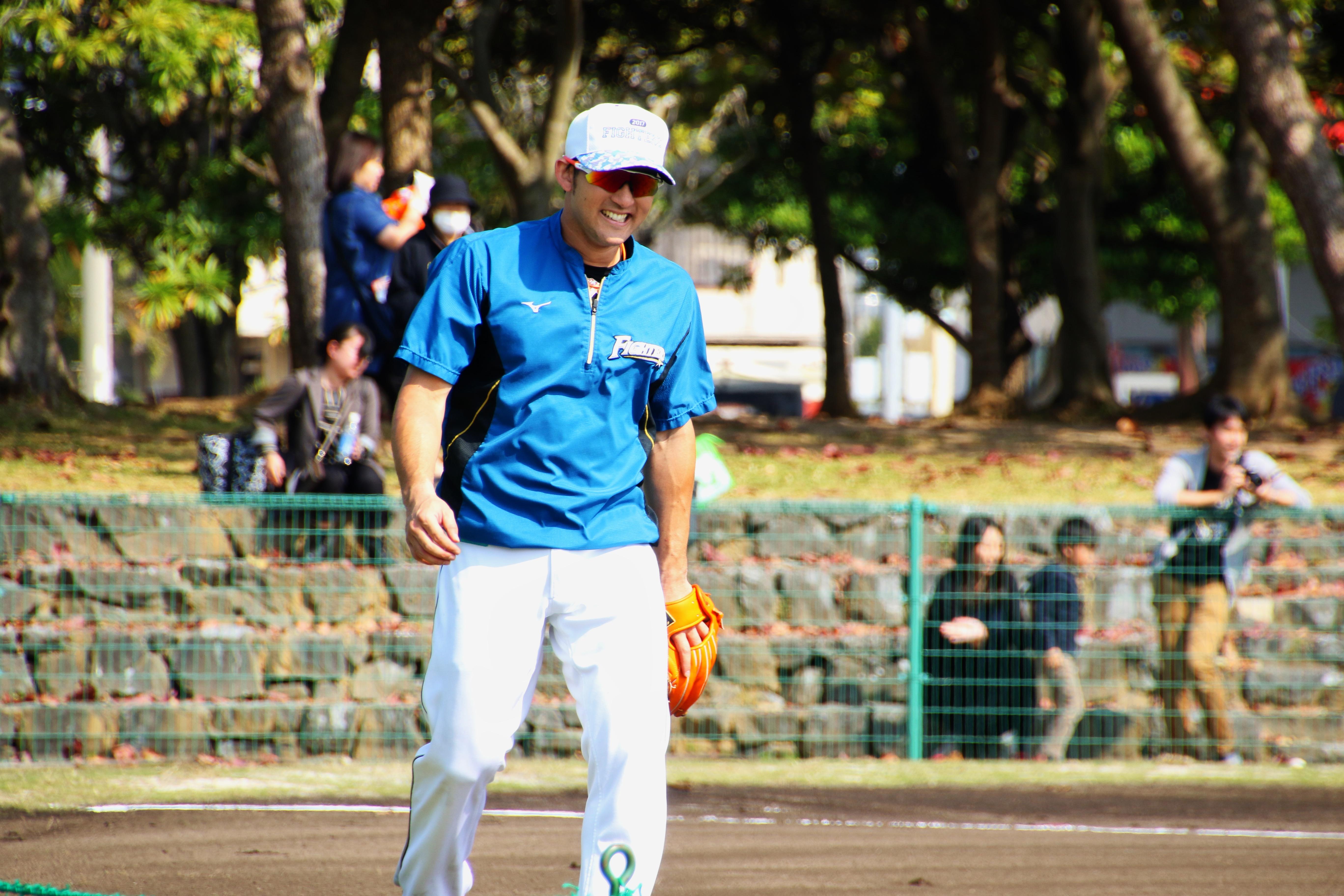 プロ野球キャンプ 日本ハム杉谷拳士©田中將介
